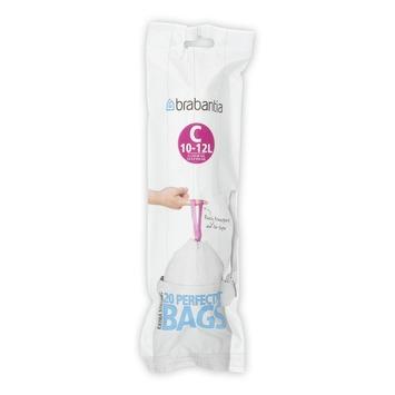 sac poubelle avec fermeture brabantia 12 l 20 pi ces. Black Bedroom Furniture Sets. Home Design Ideas