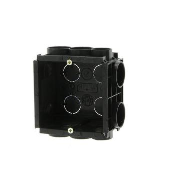 Boîtier d'encastrement mur plein avec vis Helia 40 mm combinable noir