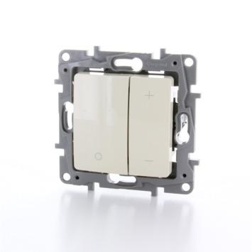 Variateur universel à bouton poussoir Niloé Legrand 3-400W crème - convient pour LED