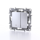 Variateur universel à bouton poussoir Niloé Legrand 3-400W aluminium - convient pour LED