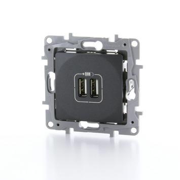Prise 2x USB Niloé Legrand anthracite