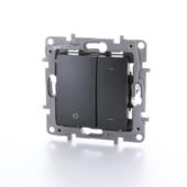 Variateur universel à bouton poussoir Niloé Legrand 3-400W anthracite - convient pour LED