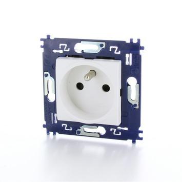 Bticino LivingLight stopcontact 2-polig met aarding en schroefbevestiging wit