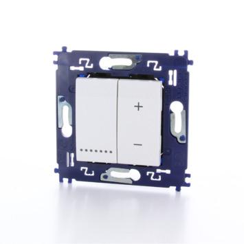 Bticino LivingLight universele drukknopdimmer met schroefbevestiging 3-400 W wit - geschikt voor LED