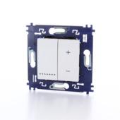 Variateur universel à bouton poussoir Bticino LivingLight 3-400W fixation à vis blanc - convient pour LED