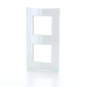 Bticino LivingLight afdekplaat 2-voudig horizontaal aqua