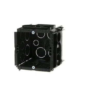 Boîtier d'encastrement mur plein avec vis Helia 65 mm combinable noir