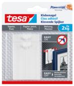 Tesa klevende spijker voor gevoelige oppervlakken wit 2 kg 2 stuks
