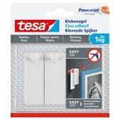 Tesa klevende spijker voor gevoelige oppervlakken wit 1 kg 2 stuks