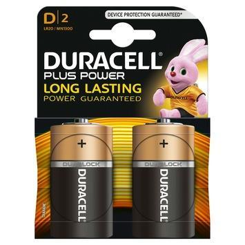 Piles Duracell Plus Power D 2 pack