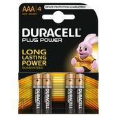 Duracell Plus Power alkaline AAA-batterijen 4 st