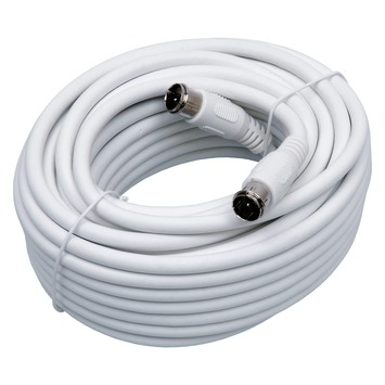 Q-link coax kabel met 2 F-connectoren 10 m wit