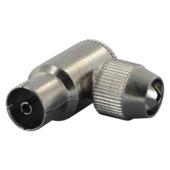 Prise coaxiale F Q-link équerre métal