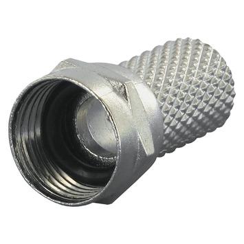 Q-link F-connector voor coaxkabel 6 mm² spatwaterdicht 2 stuks