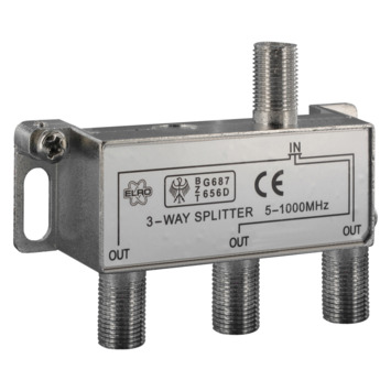 Répartiteur coaxial 3 voies Q-link avec 4 connecteurs F