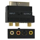 Adaptateur SCART vers S-VHS/AV Q-line noir