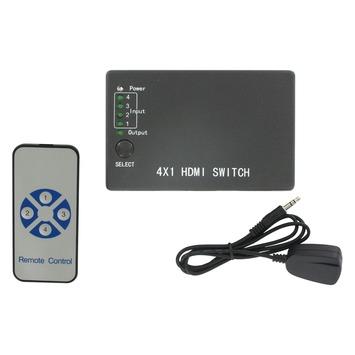 Q-link HDMI switch met 4 poorten zwart incl. afstandsbediening
