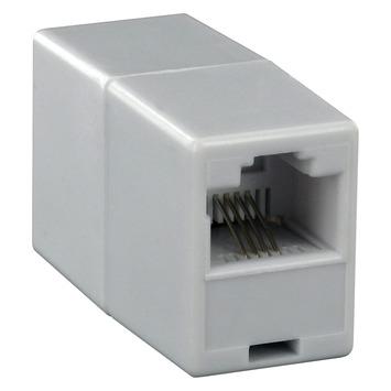 Q-link koppelstuk voor telefoonkabel RJ11 wit