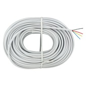 Q-link telefoonkabel rond 4x 0,5 mm² 20 m wit