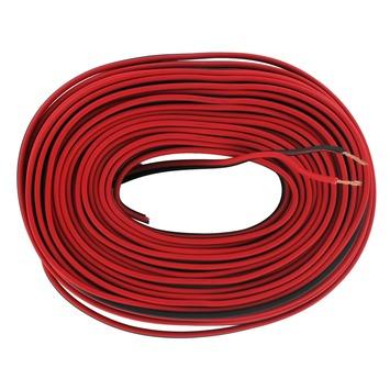 Câble haut-parleurs Q-link 2x 0,75 mm² 25 m rouge/noir