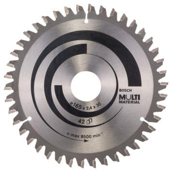 Bosch Cirkelzaagblad Multi Material 165 x 30/20 x 2,4 mm, 42 1st