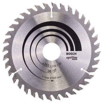 Bosch Cirkelzaagblad Optiline Wood 165 x 30 x 2,6 mm, 36 tanden 1st