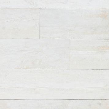 panneau d coratif de bois adh sif 1 47 m 97 5x19 5 cm 8 lattes vieux blanc panneaux de. Black Bedroom Furniture Sets. Home Design Ideas