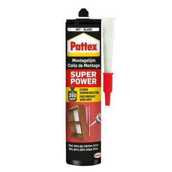 Pattex superpower montagelijm wit 370 g