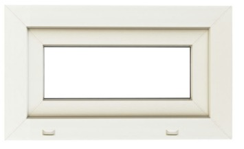 Openvallend raam pvc eco 58x86 cm U=1,1 SP0508 wit