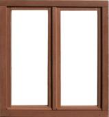 Dubbel draaikiepraam hout 138x126 cm U=1,1 N1312 rechts bruin