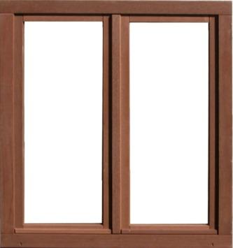 Fenêtre oscillo-battante double en bois 118x126 cm U=1,1 bd112 droit brun