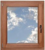 Fenêtre oscillo-battante en bois 98x96 cm U=1,1 NS0909 gauche brun