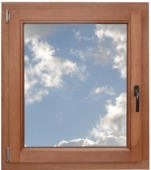 Fenêtre oscillo-battante en bois 98x96 cm U=1,1 NS0909 droite brun