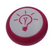 Veilleuse à LED intégrée sur piles 0,5 W rose avec crochet de suspension
