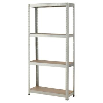 Handson zwaar metalen opbergrek 4 legborden 175 kg per legplank 165x80x30 cm