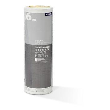 Rouleau de laine de verre  GAMMA 6x60x833,5 cm 10 m² Rd=1,5 2 pièces (uniquement en vente au webshop)