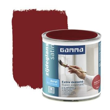 GAMMA lak extra dekkend zijdeglans donker rood 250 ml