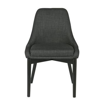 chaise salle manger koen woood gris fonc 2 pices - Chaise Salle A Manger Gris