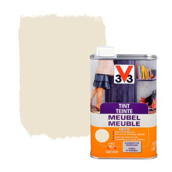 V33 tint meubel deco zijdeglans wit 500 ml