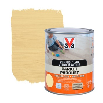 V33 parketvernis frequent gebruik mat kleurloos 750 ml
