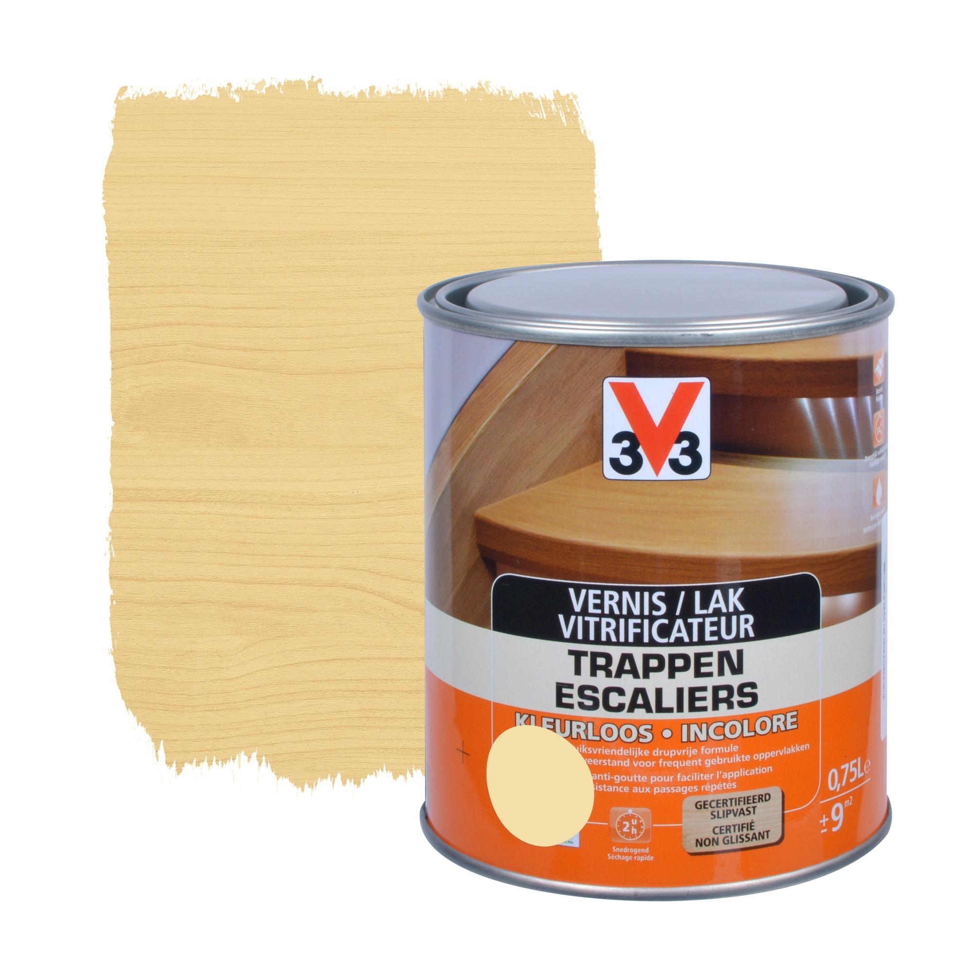 vitrificateur escaliers anti goutte v33 mat incolore 750. Black Bedroom Furniture Sets. Home Design Ideas