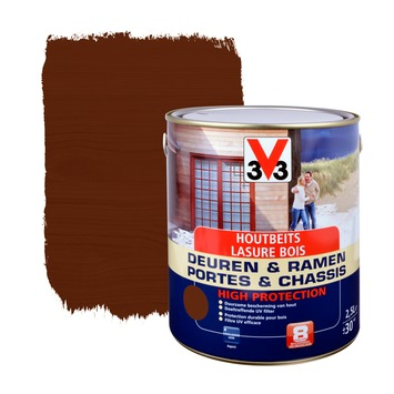 V33 Ramen & Deuren High Protection beits zijdeglans donkere eik 2,5 L