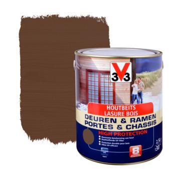 V33 Ramen & Deuren High Protection beits zijdeglans notelaar 2,5 L