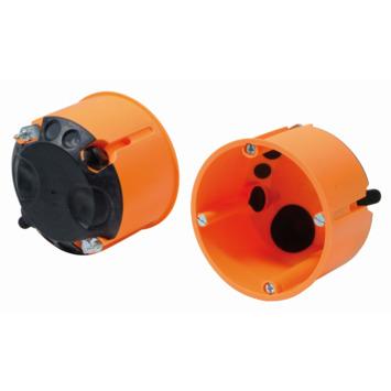 Helia inbouwdoos holle wand winddicht enkelvoudig 65 mm oranje