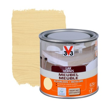 V33 meubelvernis zijdeglans kleurloos 250 ml