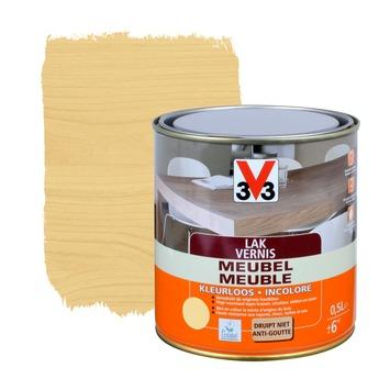 V33 meubelvernis hoogglans kleurloos 500 ml