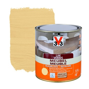 Vernis meuble V33 satin 500 ml incolore