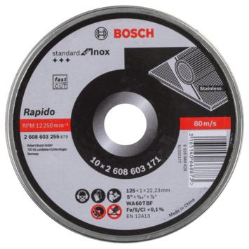 Bosch Professional doorslijpschijf 125 mm 1 mm 10-delig