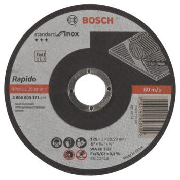 Bosch Doorslijpschijf recht Standard for Inox - Rapido WA 60 T BF, 125 mm, 22,23 mm, 1,0 mm 1st