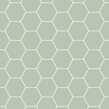 Vliesbehang Honingraad groen 101811